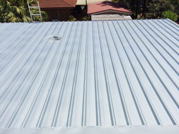 Replacing existing patio roof with Trimdeck metal roofing